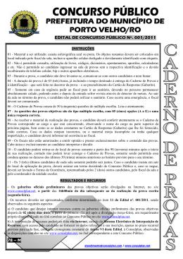 PREFEITURA DO MUNICÍPIO DE PORTO VELHO/RO