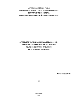 A produção teatral paulistana dos anos 1980