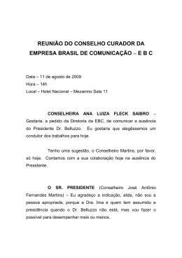 REUNIÃO DO CONSELHO CURADOR DA