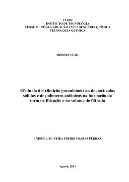 Efeito da distribuição granulométrica de partículas sólidas e de