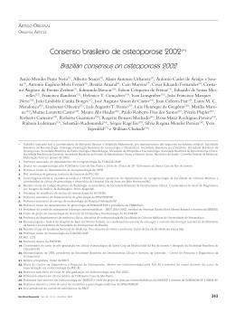 Consenso brasileiro de osteoporose 2002