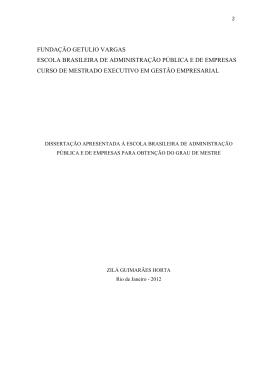 fundação getulio vargas escola brasileira de administração pública