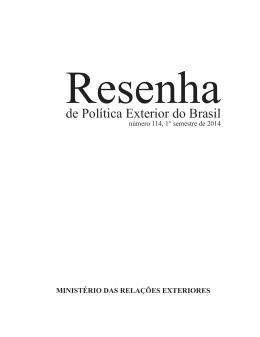 2014, 1º semestre, número 114 - Ministério das Relações Exteriores