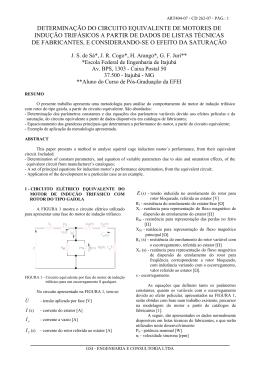 Determinação do circuito equivalente de motores de indução
