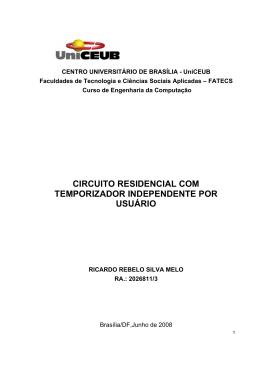 circuito residencial com temporizador independente por