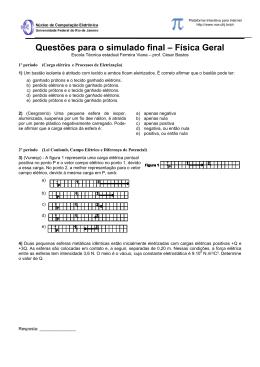 Questões de vestibular no curso de Física Geal 2003