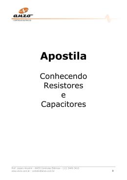 APOSTILA RESISTOR E CAPACITOR A - Anzo