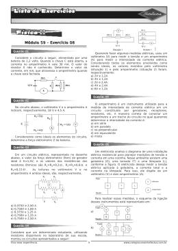 Lista de exercícios 3 Ano Apostila 02 Fisica II Modulo 59