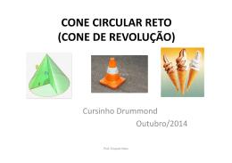 CONE CIRCULAR RETO (CONE DE REVOLUÇÃO)