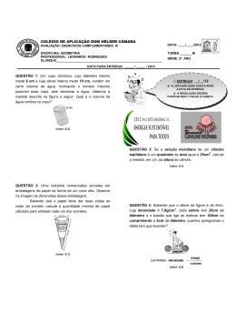 COLÉGIO DE APLICAÇÃO DOM HÉLDER CÂMARA QUESTÃO 1