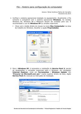 PJe – Roteiro para configuração do computador