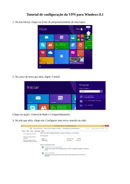 Tutorial de configuração da VPN para Windows 8.1
