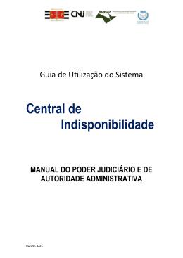 Manual - Poder Judiciário - Central Nacional de Indisponibilidade