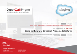 Como configurar o Directcall Phone no Salesforce