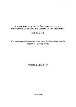 Língua Estrangeira (Espanhol)