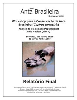 Workshop para a Conservação da Anta Brasileira