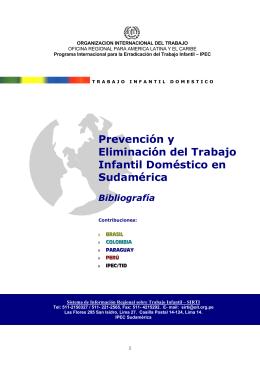 Prevención y Eliminación del Trabajo Infantil Doméstico en