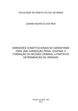 DIMENSÕES CONSTITUCIONAIS DO GARANTISMO PARA