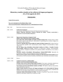 Programa Jornadas Brasileñas 2015