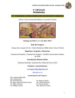 4ª circular programa xvº congreso latinoamericano de filosofía