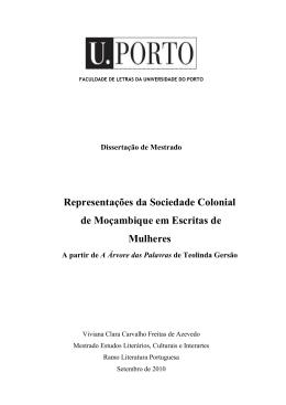 Representações da Sociedade Colonial de Moçambique em
