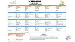 CARDÁPIO - Colégio Cidadão do Amanhã