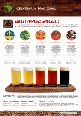 pratos do cardápio - Cervejaria Nacional