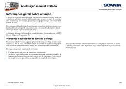 Aceleração manual limitada Informações gerais sobre a função
