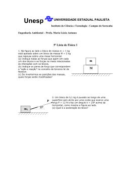 Lista 5 - UNESP Sorocaba