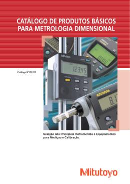 catálogo de produtos básicos para metrologia dimensional