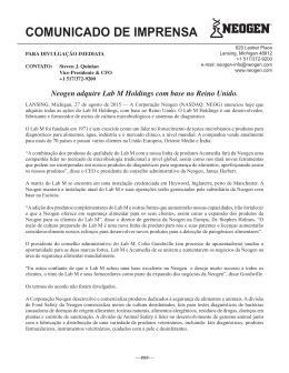 Neogen adquire Lab M Holdings com base no Reino Unido.