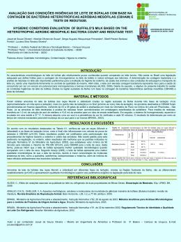 avaliação das condições higiênicas de leite de búfalas com base na