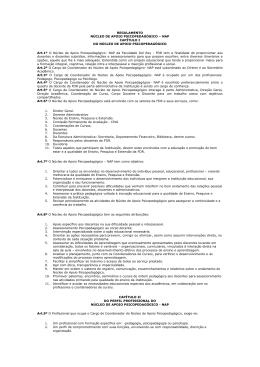 REGULAMENTO NÚCLEO DE APOIO PSICOPEDAGÓGICO – NAP