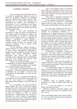 """Centro de Estudos Espíritas """"Nosso Lar"""" – Campinas/SP"""