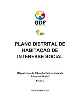 plano distrital de habitação de interesse social
