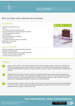 Bolo do diabo com cobertura de chocolate SEJA
