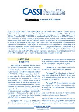 Contrato de Adesão Nº CAPÍTULO I