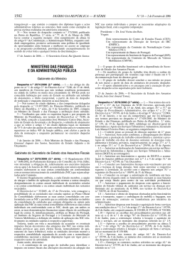 1502 MINISTÉRIO DAS FINANÇAS E DA ADMINISTRAÇÃO PÚBLICA