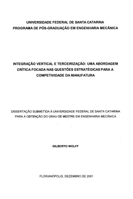 universidade federal de santa catarina programa de pós
