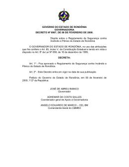 Dec. 8987 - Corpo de Bombeiros Militar do Estado de Rondônia