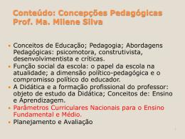 Concepções Pedagógicas - Aula 18-04