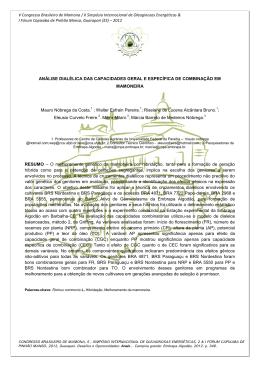Modelo de Resumo para o VCBM - V Congresso Brasileiro de