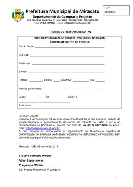 Departamento Municipal de Compras e Projetos