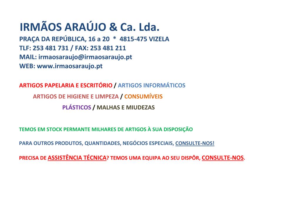 064478aa38c TABELA DE PREÇOS 2014 - irmãos araújo   ca. lda.