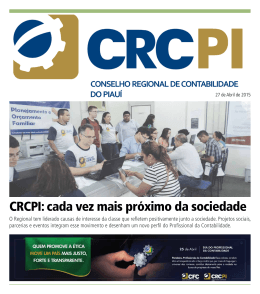 CRCPI: cada vez mais próximo da sociedade
