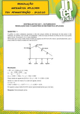 RESOLUÇÃO Matemática APLICADA FGV