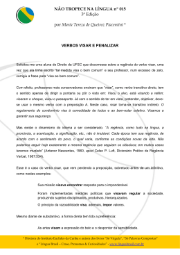 015 - VERBOS VISAR E PENALIZAR