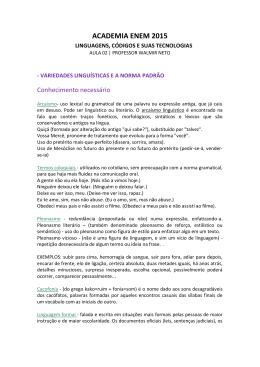 Resolução - Variedades Linguísticas