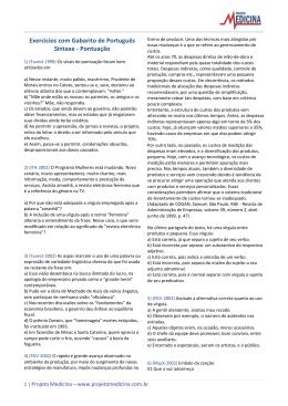 Pontuação - Projeto Medicina
