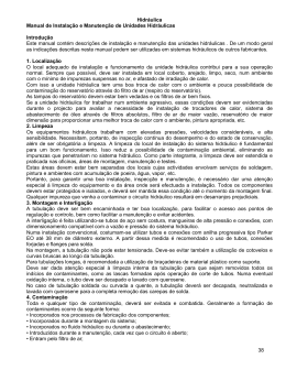 Hidráulica 38 Manual de Instalação e